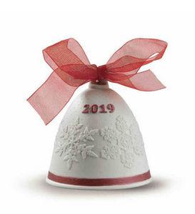 Lladró - christmas bell. red - Weihnachtsbaumschmuck