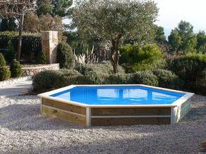 WATER CLIP - minduro - Pool Mit Holzumrandung