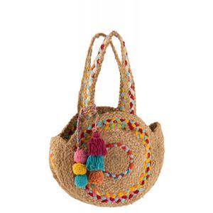 DECO PRIVE - sac rond en jute - Strandtasche
