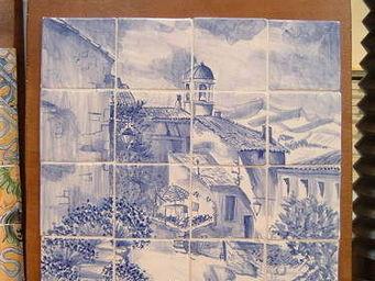 Ceramiques du Beaujolais - azulejos carrelage émaillé village - Azulejos (fliesenmotive)