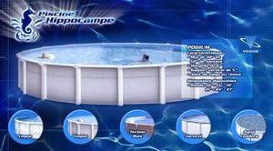 Piscine Hippocampe - vogue - Pool Mit Stahlohrkasten