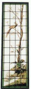 L'Antiquaire du Vitrail - oiseau sur un arbre - Buntglasfenster