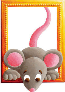 DECOLOOPIO - tableau souris - Kinderklebdekor