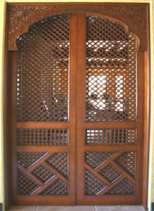 Artiwood Maroc - porte d'entrée en cèdre massif - Antike Tür