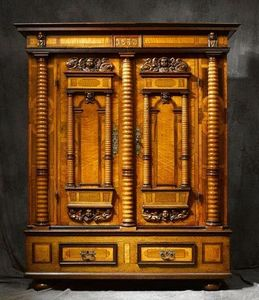 Bertrand Klein - armoire alsace renaissance 7 colonnes - Elsässischer Schrank