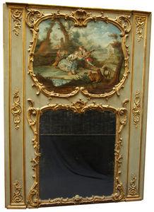 Philippe Vichot - miroir de boiserie louis xv - Trumeauspiegel