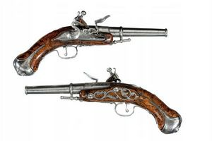 Peter Finer - a pair of english flintlock breech-loading, turn-o - Karabiner Und Gewehr