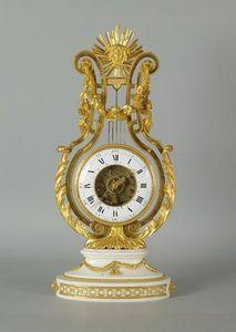 La Tour Camoufle - pendule lyre epoque louie xvi - Skelettpendeluhr