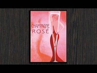 InnovMania - champagne rosé - Leuchtende Gemälde