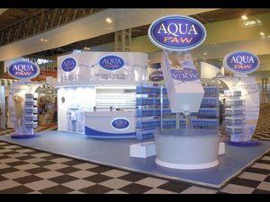 Quattro Display - aqua paw - Ausstellungsstand