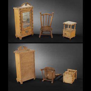 Expertissim - mobilier de chambre à coucher de poupée. - Puppenmöbel