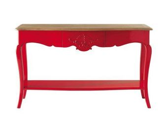 MAISONS DU MONDE - console rouge haute couture - Konsolentisch