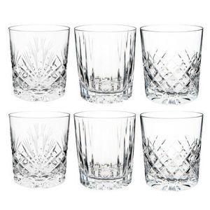 Maisons du monde - assortiment de 6 gobelets cristal taillés - Glas