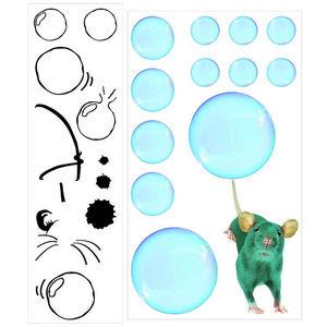 ALFRED CREATION - sticker souris - Gummiertes Papier
