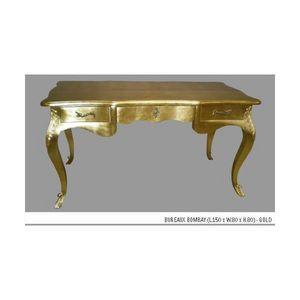 DECO PRIVE - bureau en bois dore modele bombay - Schreibtisch