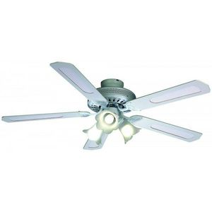 FARELEK - ventilateur de plafond ø 132 cm, 5 pales blanches  - Deckenventilator