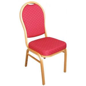COMFORIUM - lot de 4 chaises de banquet coloris rouge à dossie - Stuhl