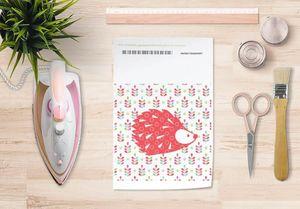 la Magie dans l'Image - papier transfert grand hérisson rouge - Verlegung