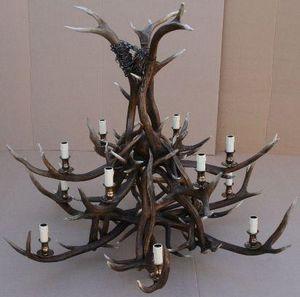 Clock House Furniture - 2-tier red deer - Kronleuchter