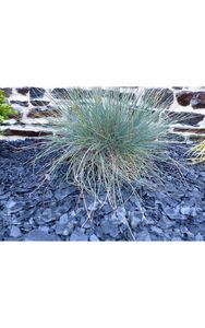CLASSGARDEN - paillage 1 m² d'ardoises noir calibre 6-24 mm -