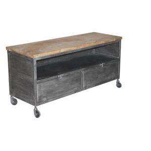 Mathi Design - meuble tv loft à roulettes - Hifi Möbel