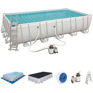 Bestway - piscine hors-sol tubulaire 1421913 - Pool Mit Stahlohrkasten