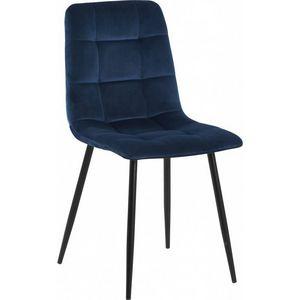 DECO PRIVE - chaise en velours bleu nuit - Stuhl