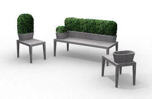 B-Ton Design -  - Blumenkübel Mit Bank