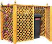 Mülleimer Schutz-Ideanature-Double cache conteneur En Pin traité