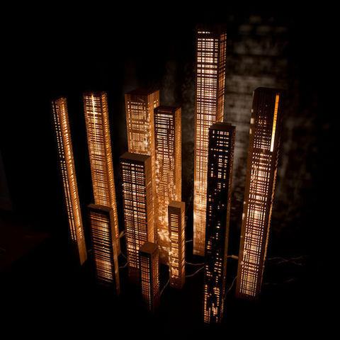 Cécile Mairet - Leuchtsäule-Cécile Mairet-lampe en bois