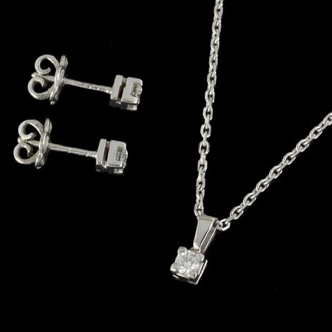 Expertissim - Schmuck-Expertissim-Parure en or blanc et diamants