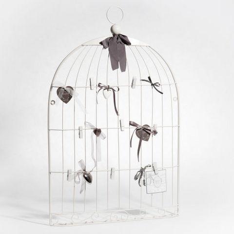 MAISONS DU MONDE - Multirahmen-MAISONS DU MONDE-Pêle-mêle Cage oiseau blanc