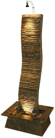 Cactose - Zimmerbrunnen-Cactose-Fontaine vague en pierre de schiste multicolore 63