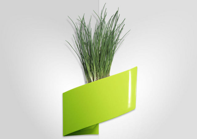 GREEN TURN - Hydrokultur Blumenkasten-GREEN TURN-Jardinière murale verte modul'green 1 module 22x1