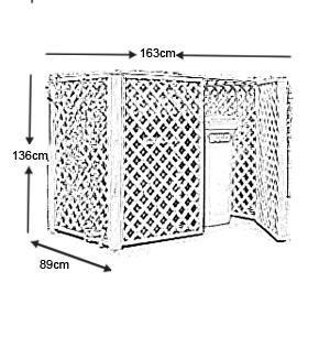 Ideanature - Mülleimer Schutz-Ideanature-Double cache conteneur En Pin traité