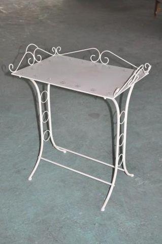 Demeure et Jardin - Beistelltisch-Demeure et Jardin-Table de toilette blanc antique