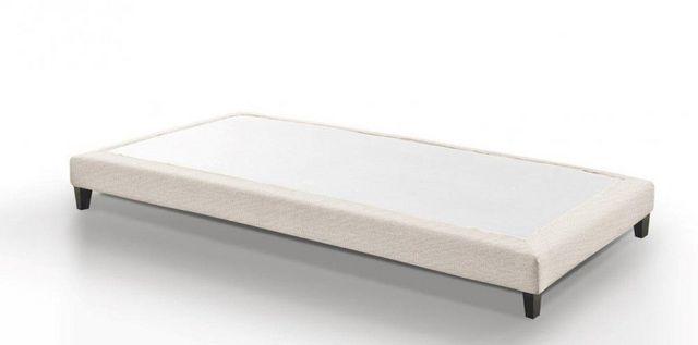 WHITE LABEL - Fester Federkernbettenrost-WHITE LABEL-Sommier haut de gamme BRISTOL 90*190 cm tissu twee