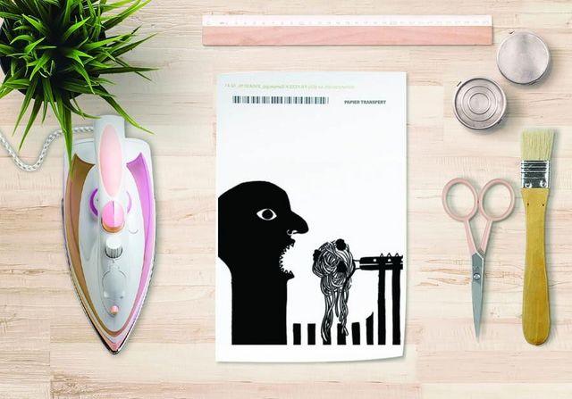la Magie dans l'Image - Verlegung-la Magie dans l'Image-Papier transfert Spaghettis Noir et Blanc