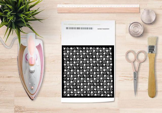 la Magie dans l'Image - Verlegung-la Magie dans l'Image-Papier transfert Trefle Noir Blanc