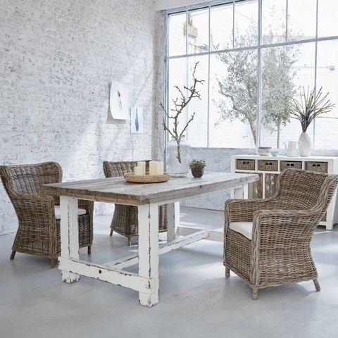 BOIS DESSUS BOIS DESSOUS - Rechteckiger Esstisch-BOIS DESSUS BOIS DESSOUS-Table en bois de pin recyclé rectangulaire 180 ATL