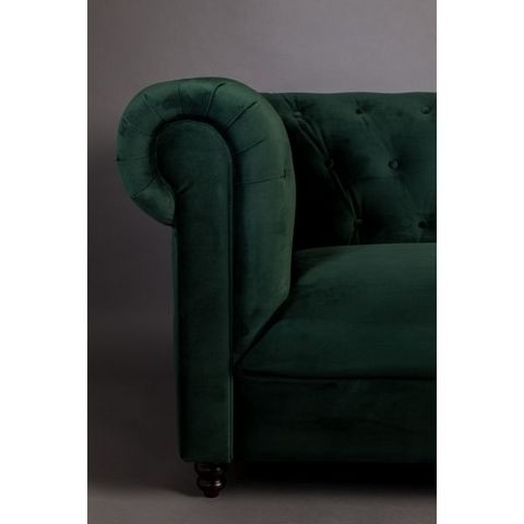 DUTCHBONE - Chesterfield Sofa-DUTCHBONE-Canapé Chester velours vert