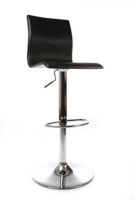 La Chaise Longue - Barhocker-La Chaise Longue-Tabouret noir avec assise en similicuir rembourré