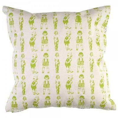 La Chaise Longue - Kissen quadratisch-La Chaise Longue-Coussin Paper Dolls Vert
