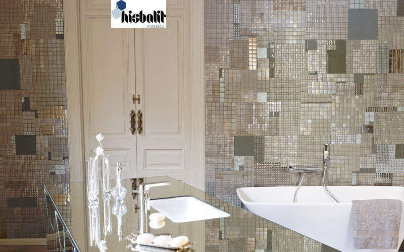 HISBALIT Mosaico Azulejos de mosaico para pared Azulejos para paredes Paredes & Techos Baño | Ecléctico