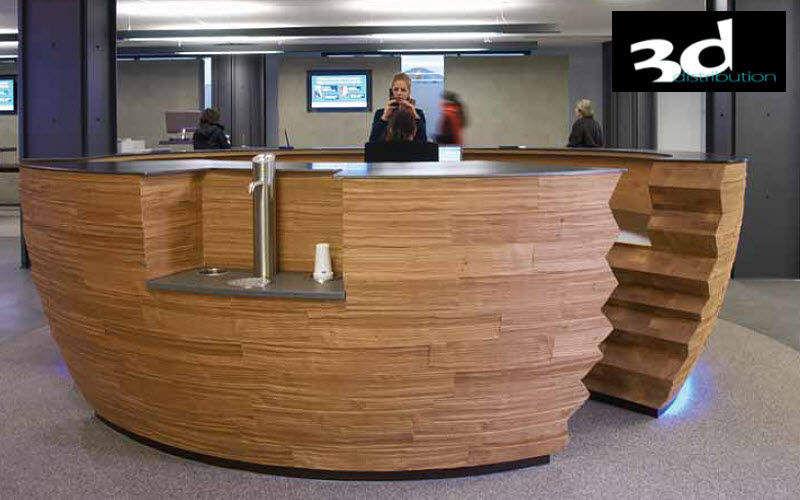 3D DISTRIBUTION Mostrador de recepción Mesas y escritorios Despacho Lugar de trabajo | Ecléctico