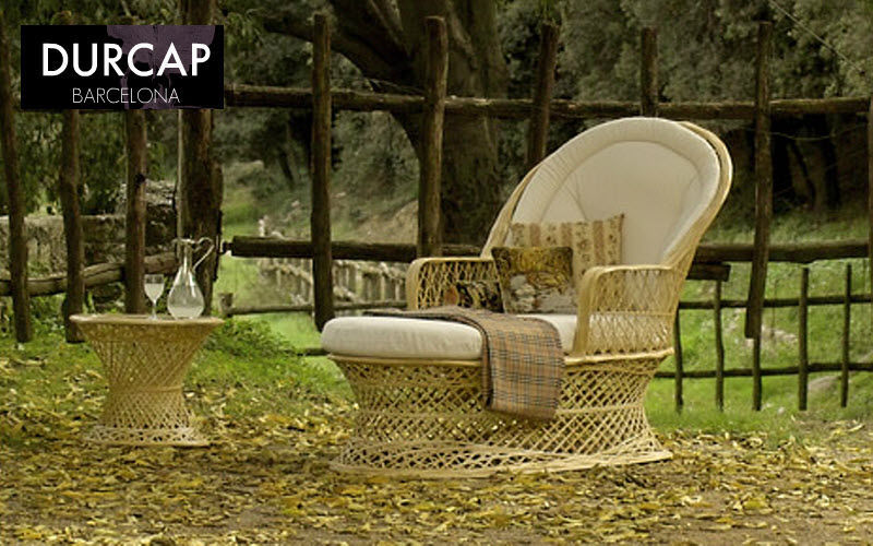 DURCAP Sillón de jardín Sillones de exterior Jardín Mobiliario Terraza | Rústico