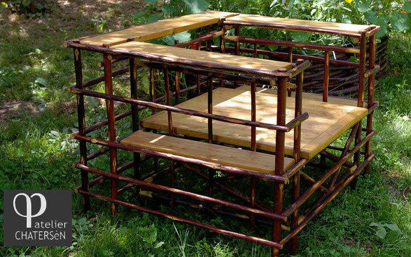 Atelier CHATERSèN Sillón de jardín Sillones de exterior Jardín Mobiliario Jardín-Piscina | Rústico
