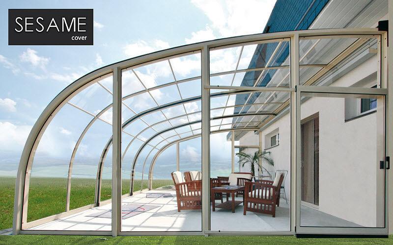 SESAME COVER Cubierta para terraza Sombrillas y estructuras tensadas Jardín Mobiliario  |