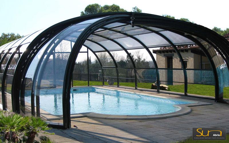 Sun Abris Cubierta de piscina alta corredera o telescópica Cabinas de piscina Piscina y Spa   