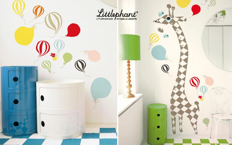 LITTLEPHANT Adhesivo decorativo para niño Decoración infantil El mundo del niño  |